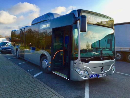 08.03.2016, Mercedes-Benz Citaro NGT, Stuttgart-Möhringen > Mannheim