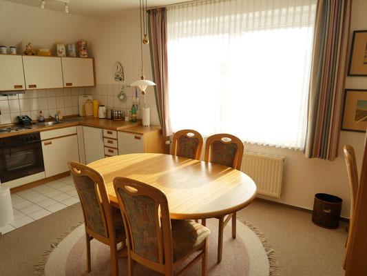 Die offene Küche der Ferienwohnung Nr. 38