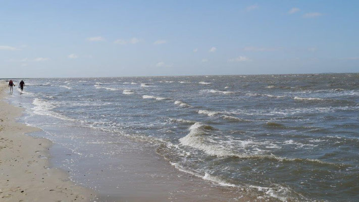 Ein Spaziergang am Strand, direkt vor der Residenz Meeresbrandung