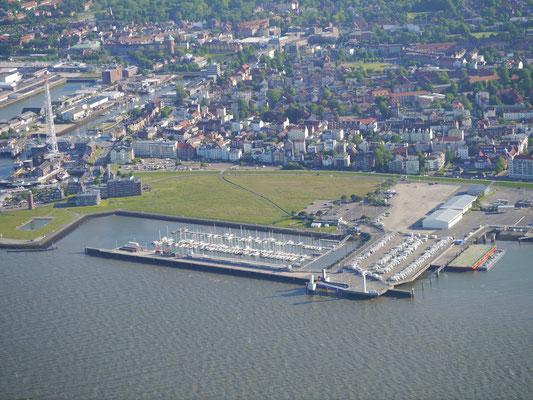 Der Yachthaven von Cuxhaven