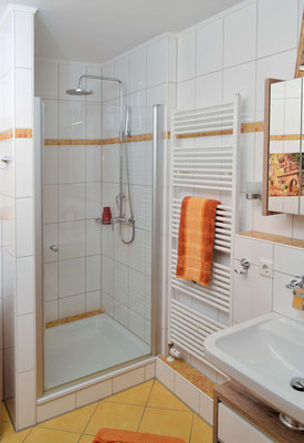 Die Dusche der Ferienwohnung