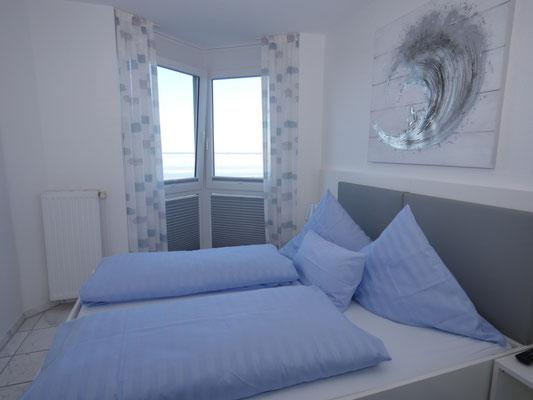 Das Schlafzimmer mit Meerblick