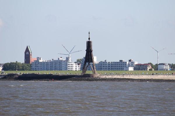 Die Kugelbake, das Wahrzeichen von Cuxhaven