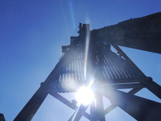 Die Kugelbake vor Cuxhaven im Sonnenschein