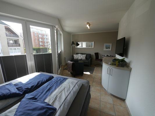 Modern und komfortable ist die Ferienwohnung Nr.23 ausgestattet