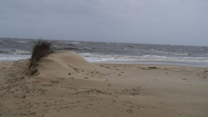 Sandverwehungen, so etwas kennt man sonst nur vom Schnee