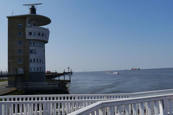 Der Radarturm in Cuxhaven, an der Alten Liebe