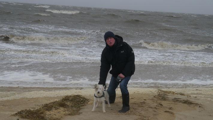 Hundebesitzer sind es gewohnt - Draußen bei jedem Wetter