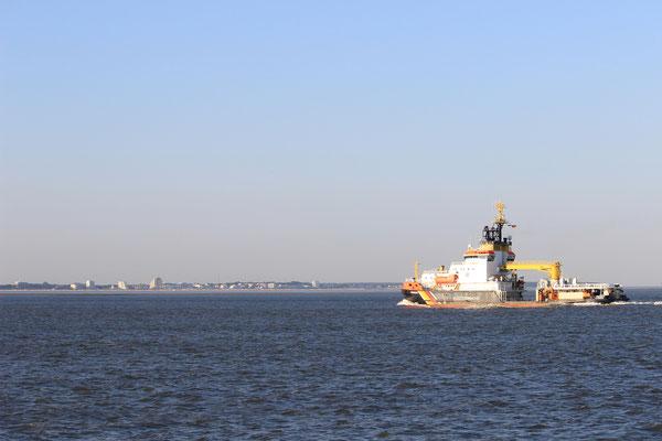 Die Neuwerk der Küstenwache vor Duhnen