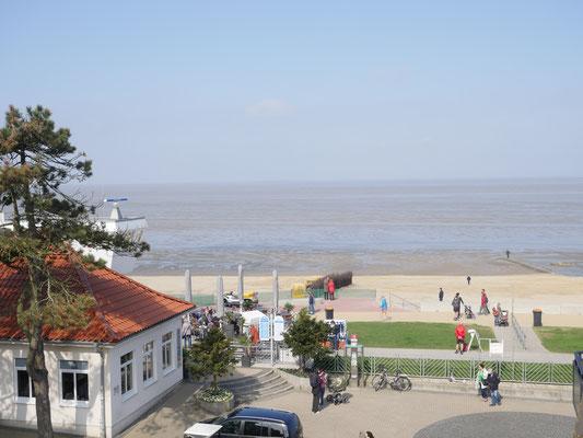 Der Meerblick vom Balkon der Ferienwohnung Nr. 38 in der Residenz Meeresbrandung