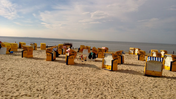 Der feine Sandstrand in Cuxhaven-Duhnen.