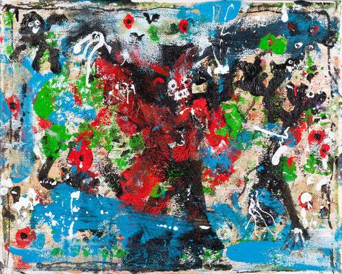Le magicien (acrylique sur toile - 24 x 30 cm)
