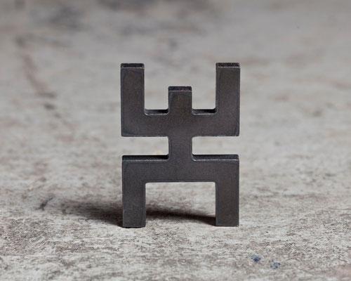 L'humain (acier découpé)