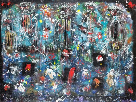 Mania Boz (acrylique sur toile 150 x200 cm)