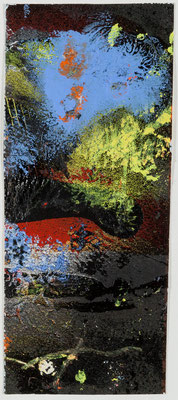 Landscape (acrylique sur papier - 17 x 7,5 cm)
