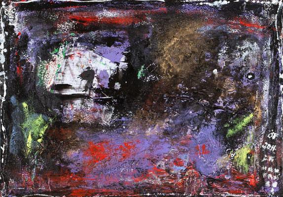 Titre illisible (acrylique sur papier 24 x 30 cm)