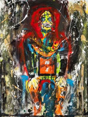 Le croquemitaine (acrylique sur toile - 200 x 150 cm)
