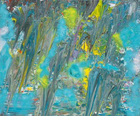 La Passe Céleste (acrylique sur toile 120 x 100 cm)