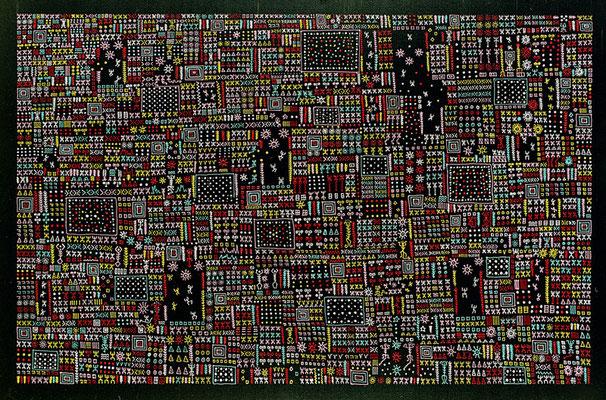 All over I (encre de Chine & acrylique sur toile - 200 x 300 cm)