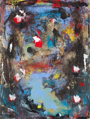 Somewhere (acrylique sur papier 60 x 46 cm)