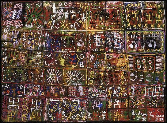 La Danse (mixte sur toile - 1998 - 150 x 200 cm)