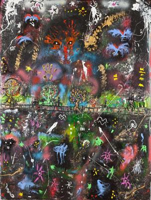 Le parapet (acrylique sur toile -200 x 150 cm)