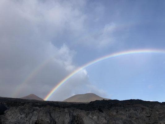 Double rainbow over La Restinga on El Hierro
