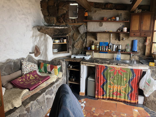 the kitchen in my little house in the South of La Gomera - Alajerò
