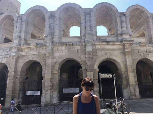 Me and the arena in Arles, Provence (South of France)