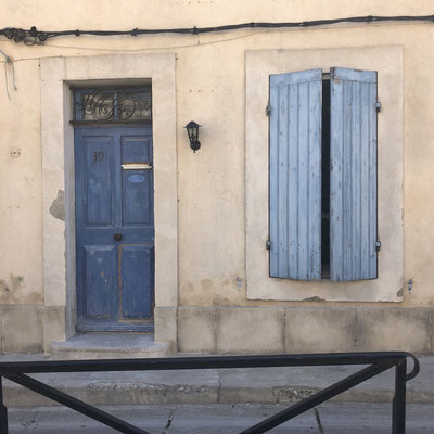 Beautiful colours in Arles, Provence (South of France)