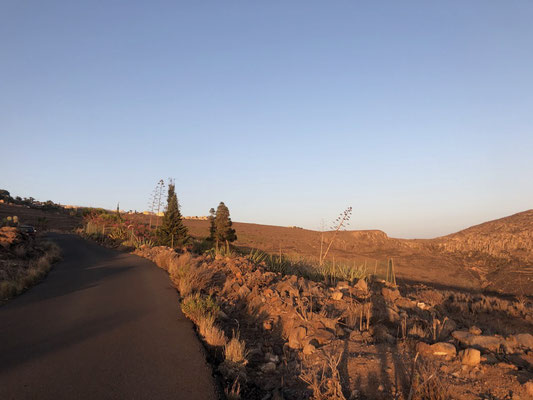 Sunset streets on La Gomera