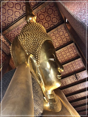 The Reclining Buddha at Wat Pho, Bangkok.