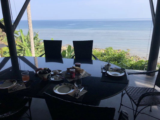 Breakfast & lovely view in Kamala, Thailand