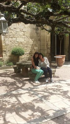 Jolanda and me at a lovely hotel & restaurant in Arpaillargues, Provence (South of France)