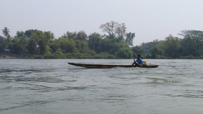 Boats on the Mekong, Laos