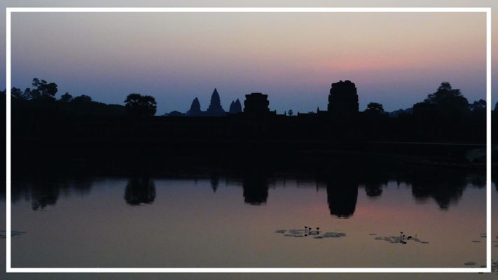 Before the sun rises at Angkor Wat