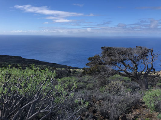 Windy east of El Hierro