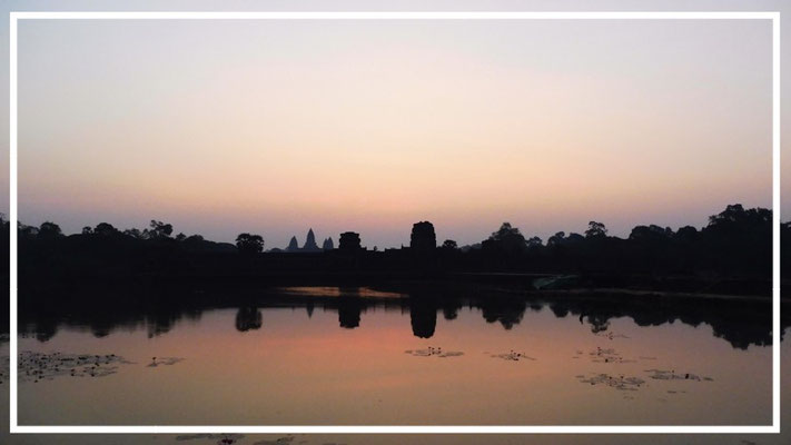 Almost sunrise time at Angkor Wat