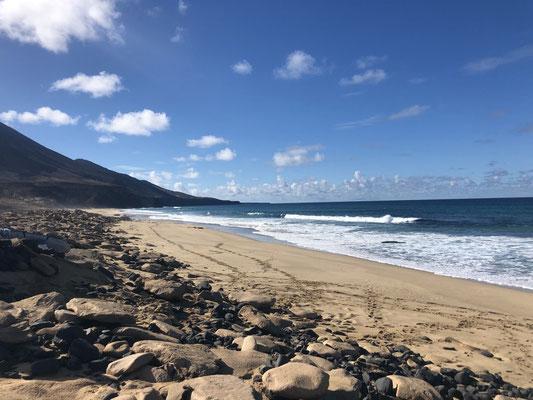 Empty beach on the south of Fuerteventura