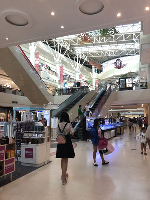 Inside a big shopping mall in Patong, Thailand