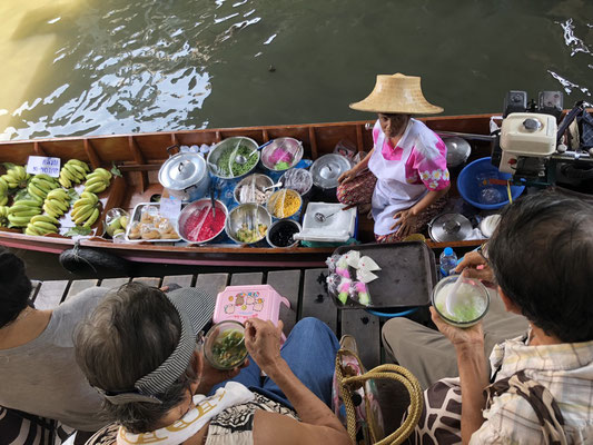 Floating markets in Bangkok, Thailand