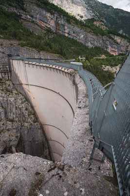 The tall Vajont dam