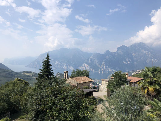 The lovely view from Greta's house onto Lake Garda
