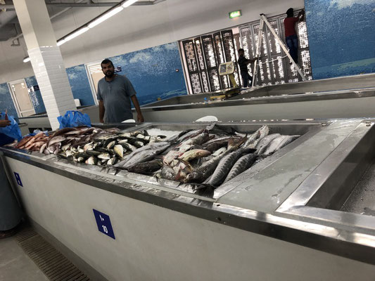At a fish market in Muscat, Oman