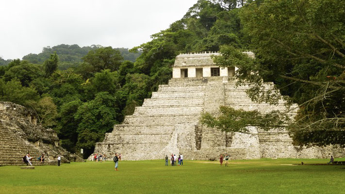 The different ruins at Palenque