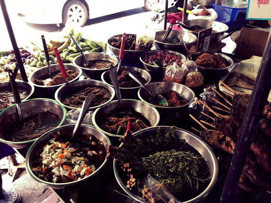 Street food in all variety in Bangkok's streets
