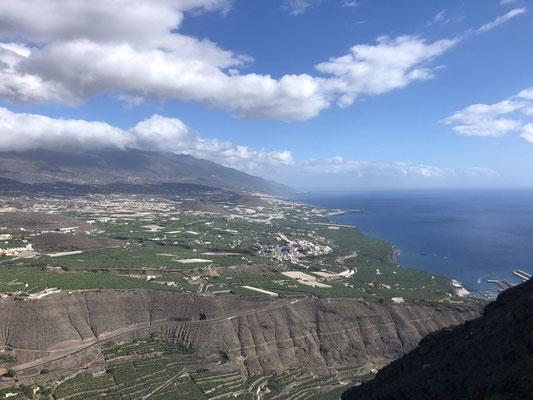 Views toward Tazacorte on La Palma