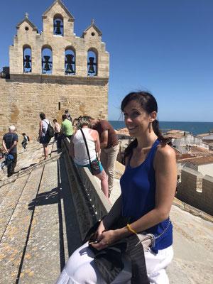 Me on top of the church of Saintes-Maries-de-la-Mer