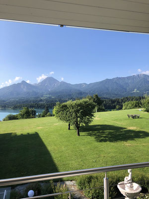 View from our accommodation to Lake Faak