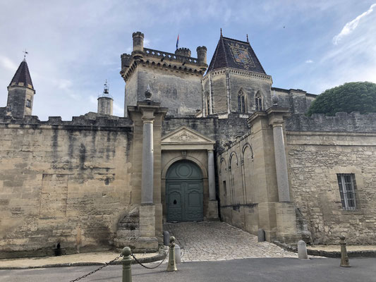 The medieval Duché Palace in Uzes, Provence